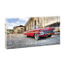 Bilder Autos Kuba Kunstdruck auf Leinwand XXL Chevrolet -80 cm*40 cm 015