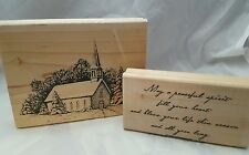 Stampin Up RETIRED Stamp Set Silent Night  Christmas Church
