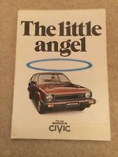 HONDA CIVIC orig 1980 UK Mkt Sales Brochure