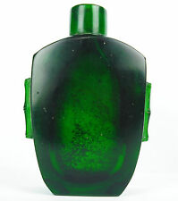 Snuff bottle snuffbox green glass Beijing xixth China China 7,5 cm