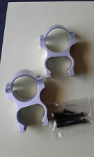 WIDEVIEW SEE THRU 30MM  UNIVERSAL SCOPE MOUNT (no bases) Matte Silver Finish
