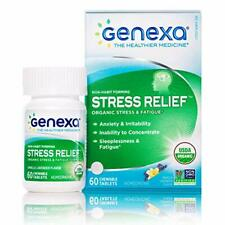 Genexa Stress Relief - 60 Tablets | Certified Organic & Non-GMO, Physician