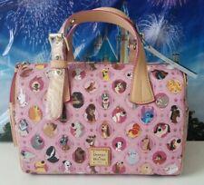 NWT Disney Dooney & Bourke Pink Disney Dogs Satchel Barrel Purse Bag #1