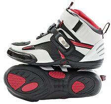 Joe Rocket Atomic Motorcycle White Black Red Size 9 Mens Race Stunt Drag Shoes
