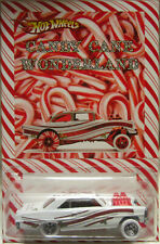 Hot Wheels CUSTOM '66 SUPER NOVA Candy Cane Real Riders Holiday Edition!