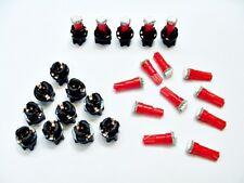 """15 Red Lights Bulbs LEDs 3/8"""" Sockets Mopar Instrument Panel Cluster Dashboard"""