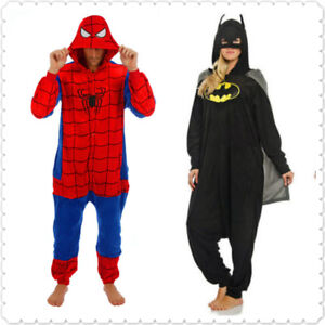 Superhero Spider man Batman Onesiee Kigurumi Fancy Dress Costume Hoody Pyjamas