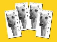 Lurcher Dog Pet Small Slim Pocket Notepads, Pack of 4 Gift Set