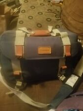 Vintage Canon Camera Bag Canvas Leather Retro Look