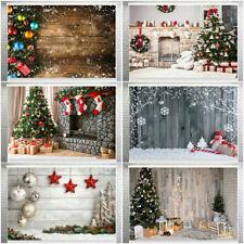 Christmas Photo Photography Props Background Cloth Vinyl Backdrop Studio UK