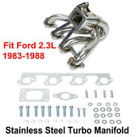 Center Mount Turbo Manifold T3 Fit 2.3L Ford Mustang SVO Thunderbird XR4Ti