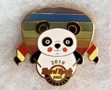 HARD ROCK CAFE BRUSSELS PANDA WITH FLAGS RAINBOW COLOR GUITAR PICK PIN # 499489