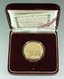 1986/1988 Seoul South Korea 25,000 Won 1/2 Oz Olympic Gold Proof Coin w/ Box COA