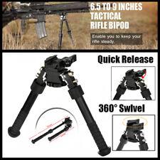 Rifle Bipod CNC QD Tactical Picatinny Rail 6.5 - 9 inch Bipod Flat Adjustable