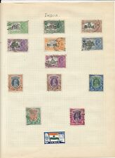 Stamp collection early India to 10r value on album page