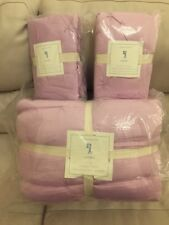 Pottery Barn Kids Audrey Full/Queen Quilt 2 Euro Shams Lilac NWT