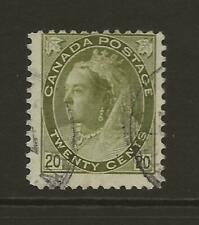CANADA SG165 20c Olive Green QV Widow Weeds Fine Used Cat £55