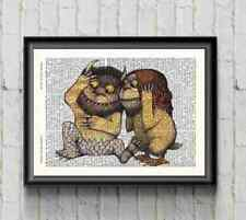 Where The Wild Things Are 2 Dictionary Print Wall Art Nursery Decor