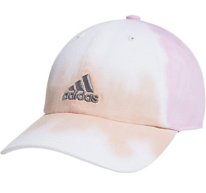 NEW! adidas Women Relaxed Color Wash Adjustable Cap-Vapour Pink/Frost Pink/Grey