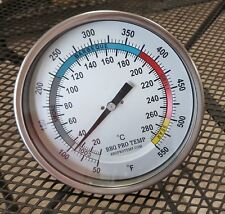 """6""""  BBQ CHARCOAL GAS ELECTRIC GRILL SMOKER PIT OVEN THERMOMETER GAUGE BPT Wht 4"""