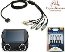 PSP Go Component Cable AV Game Box Playstation Sony Audio Video USB Colors HDTV