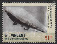 """WWI Luftschiff Zeppelin LZ.7 """"Deutschland"""" E-Class German Airship Stamp"""
