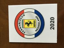 Ferrari Club Nederland 2020 member window adhesive sticker 55x70mm