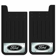2PC BUILT TOUGH OVAL LOGO 12X23 MUD SPLASH GUARDS FLAPS FOR TRUCK SUV for FORD