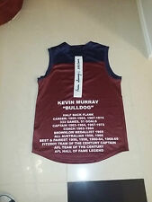 FITZROY LIONS JUMPER HAND SIGNED KEVIN BULLDOG MURRAY CAREER STATS 1969 BROWNLOW