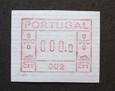 Portugal 1981: ATM/variable rate stamp/label, m. A-Nr. 002, 0000-Druck -RARE!