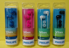 Philips SHE3550 Vibes My Jam In-Ear Headphones ~ New in Pkg