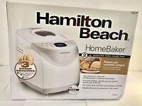 Hamilton Beach HomeBaker 2 Pound Automatic Breadmaker w/ Gluten Free Setting New
