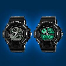 SKMEI Digitaluhr Datum Alarm Wasserdicht Herren Jungen Armee Armbanduhr
