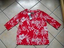 SLINKY BRAND Shirt Gr. 40/42 rot gemustert TOP HSE 24 ungetragen
