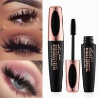 4D Waterproof Mascara Silk Fibre Eyelash Long Lasting Volume Black Make Up