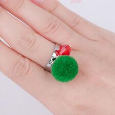 Anillo ajustable de Navidad, detalle Pom Pom & del grano, Bolsa De Regalo, Envío Mismo Día