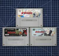 Go Go Ackman 1, 2, 3 SNES Super Famicom Nintendo SFC japan