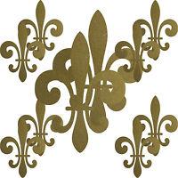 set gold florentiner lilie fleur de lis aufkleber tattoo. Black Bedroom Furniture Sets. Home Design Ideas
