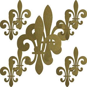 2 Sets gold Lilie Lilien Fleur de Lis Aufkleber Tattoo die cut ORACAL Deko Folie