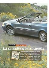 ESSAI ARTICLE PRESSE REPORTAGE VOLVO C70 CABRIOLET 1991 2 PAGES