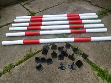 DOG AGILITY PACK 6 POLES +18 QUALITY JUMP CUPS TRAINING OBEDIENCE EQUIPMENT.