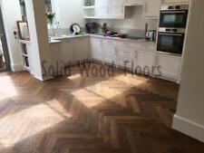 Fumed Oak Engineered herringbone Parquet flooring