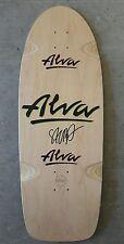 Rare Tony ALVA pig skateboard SIGNED by Steve Salba hawk Santa Cruz hosoi Sims