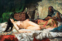 The Odalisque by Maria Fortuny A1 High Quality Canvas Print