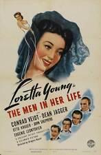 THE MEN IN HER LIFE Movie POSTER 27x40 Loretta Young Conrad Veidt Dean Jagger