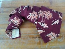 Men's Tommy Bahama Silk Tie Neck Tie Palm Trees Leaves Burgundy