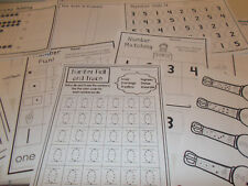 303 Printed Counting and Writing Numbers Worksheets for Preschool and Kindergart