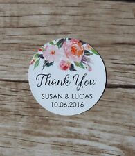 24 Personalised Stickers - Wedding, Baby Bridal Shower, Thank You Stickers tag