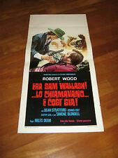 LOCANDINA,WESTERN ITALIANA,ERA SAM WALLASH LO CHIAMAVANO E COSì SIA R.WOOD,DEEM