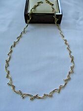 "Hermoso Tono Oro Cadena Collar 18"" M&S"